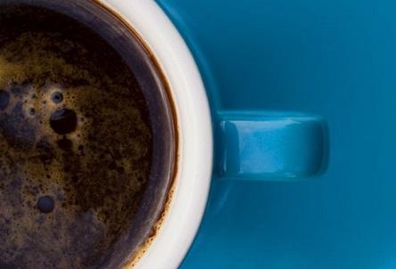 Вместо кофе можно использовать синий цвет