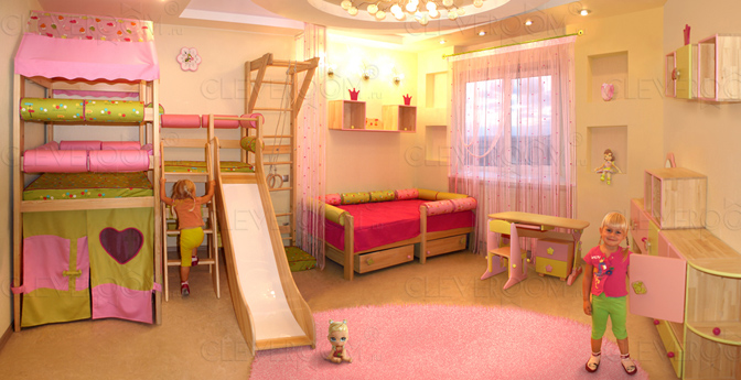Классический дизайн детской комнаты, трансформирующийся под возраст ребенка