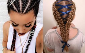 Тренд: косы с лентами
