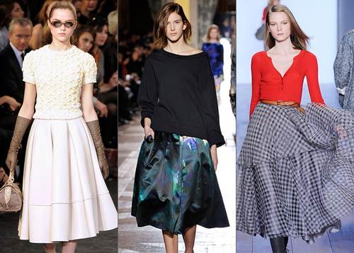 Расклешенная юбка: носим правильно!