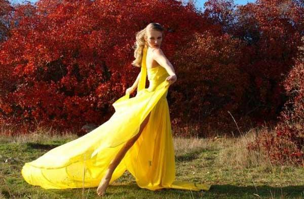 С чем носить одежду желтого цвета
