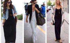 C чем носить: платье-майка