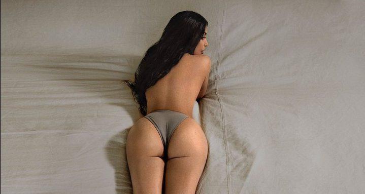 Ким Кардашьян снялась в новой кампании Yeezy Boost почти обнаженной