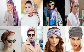 Как стильно завязать платок на голове