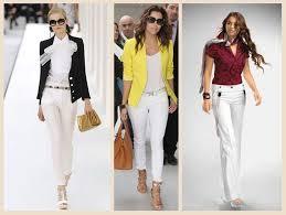 Белые брюки в гардеробе