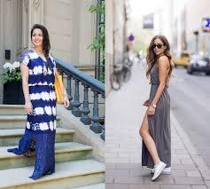 С чем носить платье макси летом