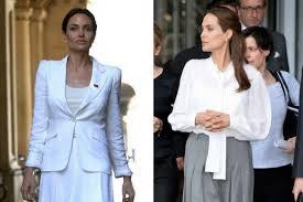 Как повторить деловой стиль Анджелины Джоли