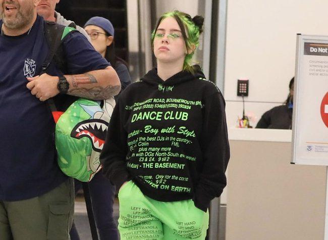 Молодо-зелено: Билли Айлиш и ее новый необычный цвет волос